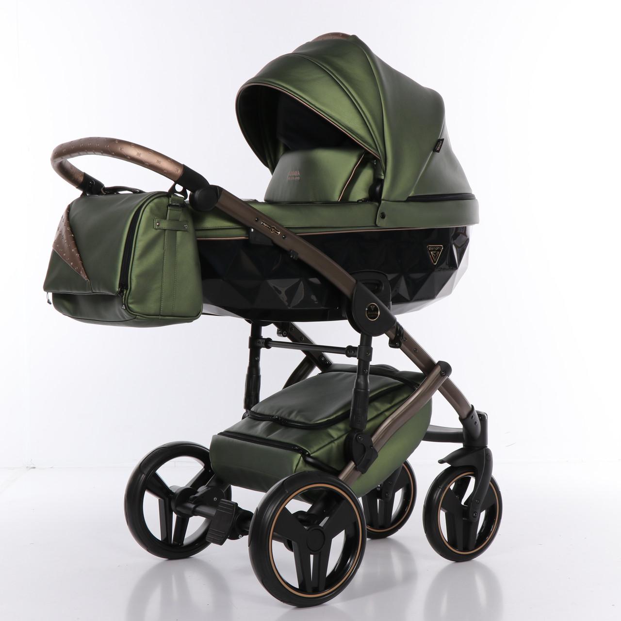 Детская коляска 2 в 1 Junama Diamond Fluo line II оливковая 05
