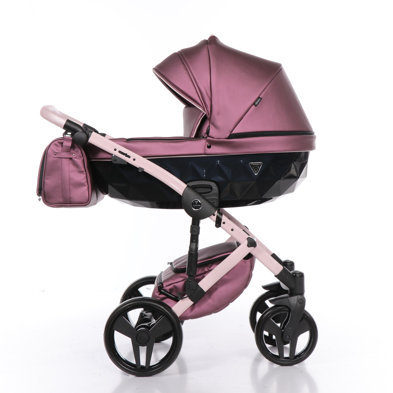 Дитяча коляска 2 в 1 Junama Diamond Fluo line II рожева 08