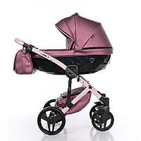Дитяча коляска 2 в 1 Junama Diamond Fluo line II рожева 08, фото 1