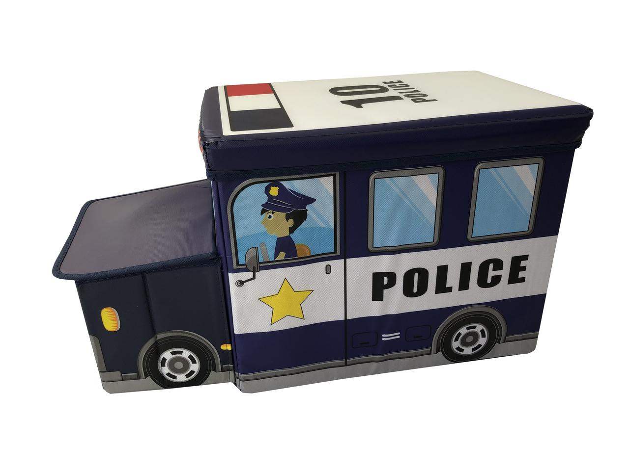 Ящик-пуф для іграшок Baby Comfort Поліцейська машина