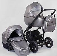 Детская коляска 2 в 1 Victoria Gold Roxy серебро эко-кожа