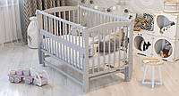 Ліжко дитяче Дубик-М Еліт з маятником сіра