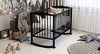 Ліжко дитяче Дубик-М Колиска на дузі БУК венге