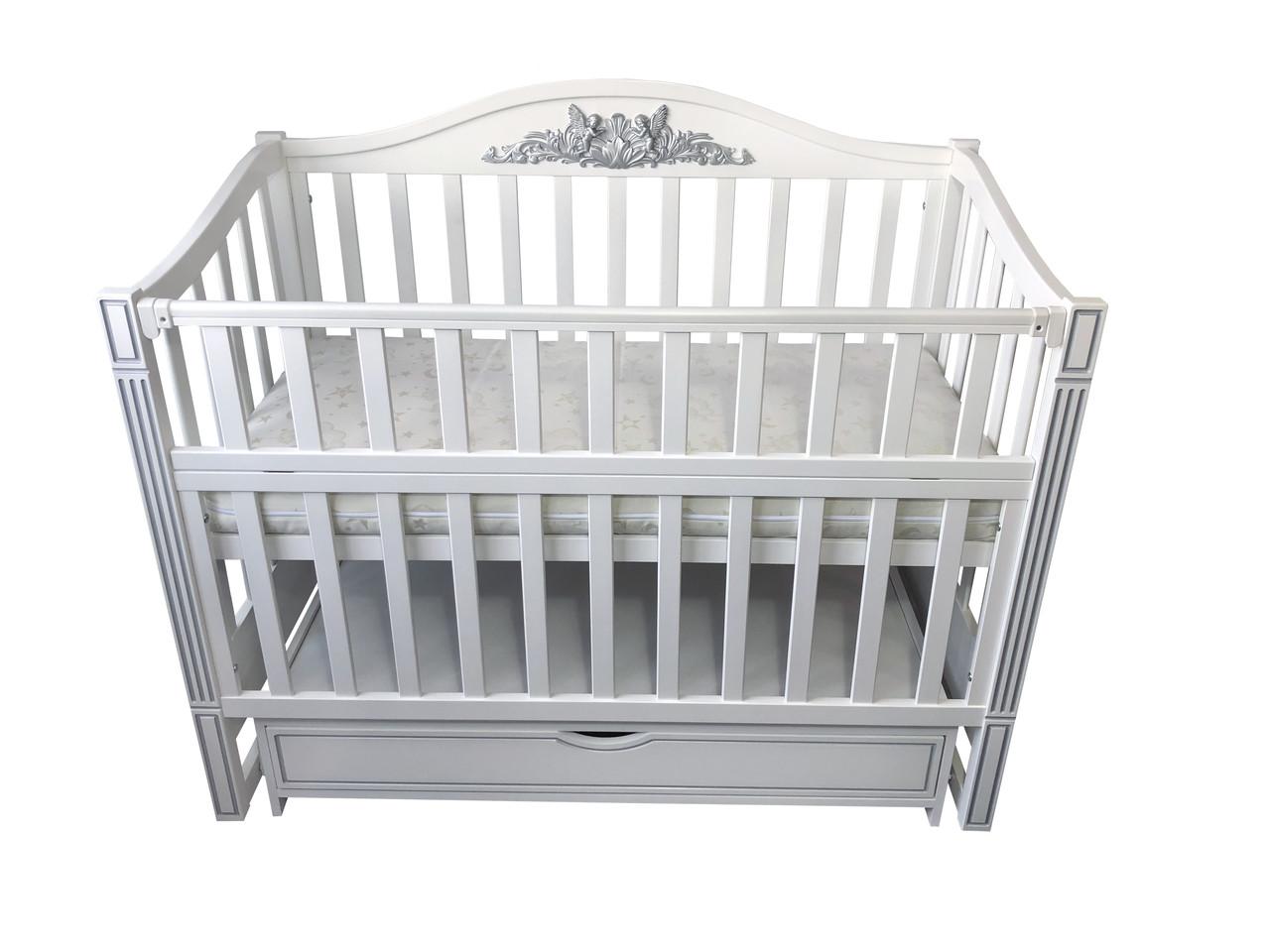Кровать детская Baby Comfort Ангела с ящиком белый