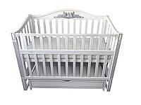 Кровать детская Baby Comfort Ангела с ящиком белый, фото 1
