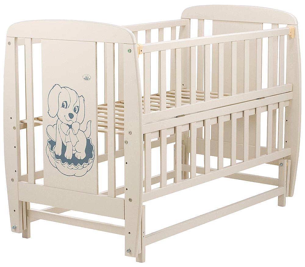 Кровать детская Дубик-М Песик с маятником слоновая кость