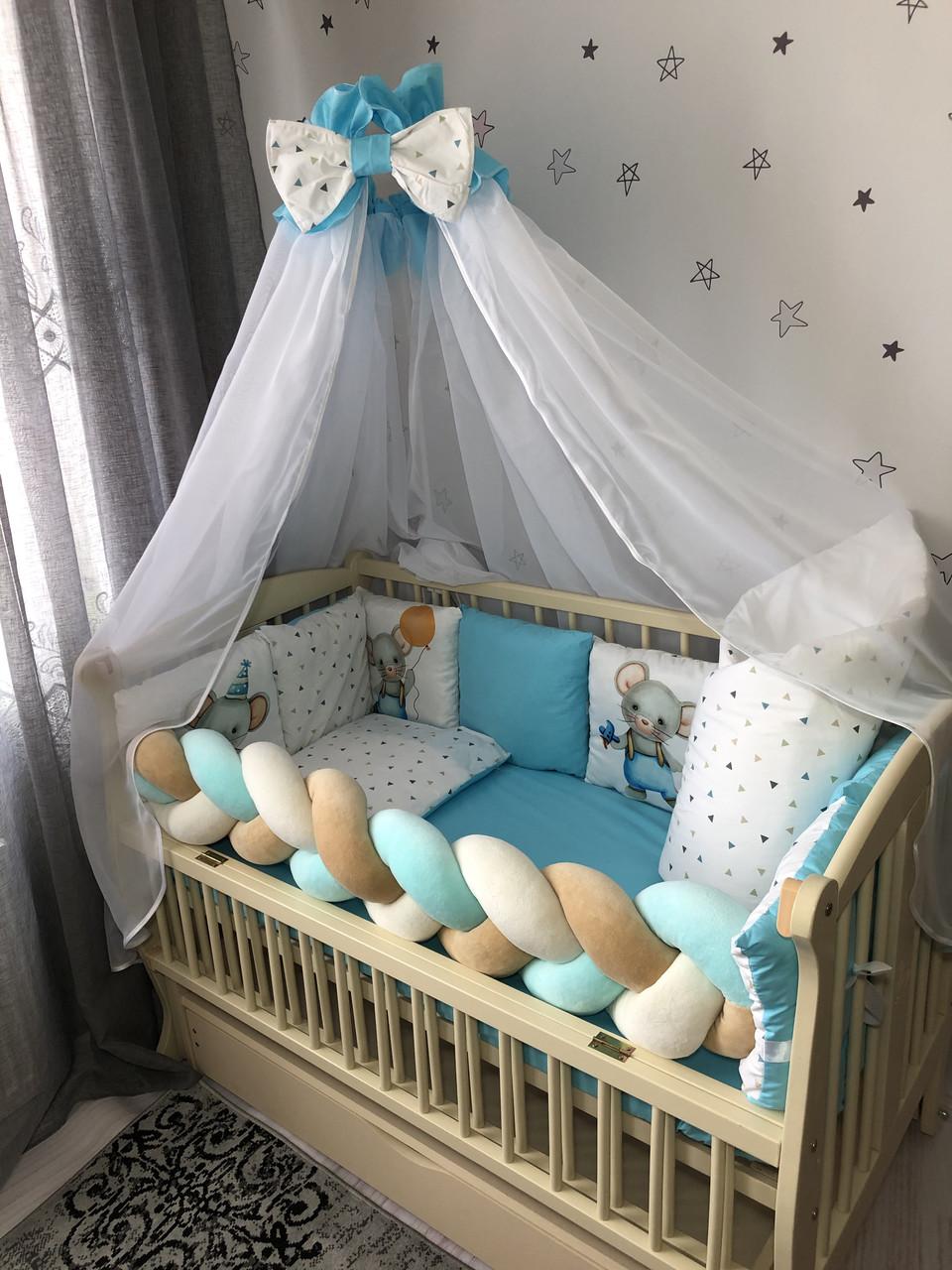 Комплект постельного белья Baby Comfort Modern Мышонок голубой 7 элементов