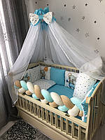 Комплект постельного белья Baby Comfort Modern Мышонок голубой 7 элементов, фото 1