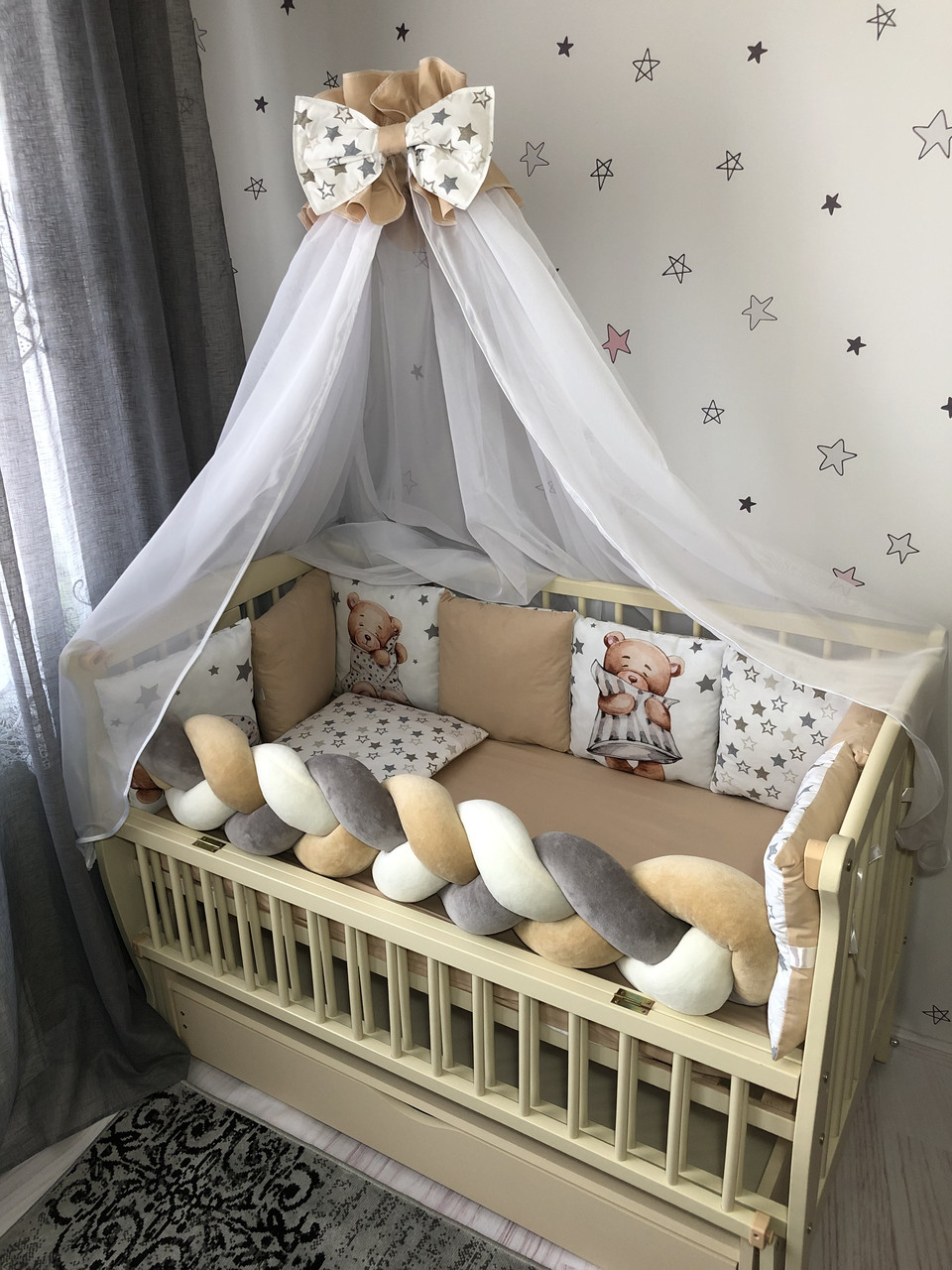 Комплект постельного белья Baby Comfort Modern Мишка бежевый 7 элементов