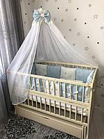 Комплект постельного белья Baby Comfort Glitter голубой 7 элементов, фото 1