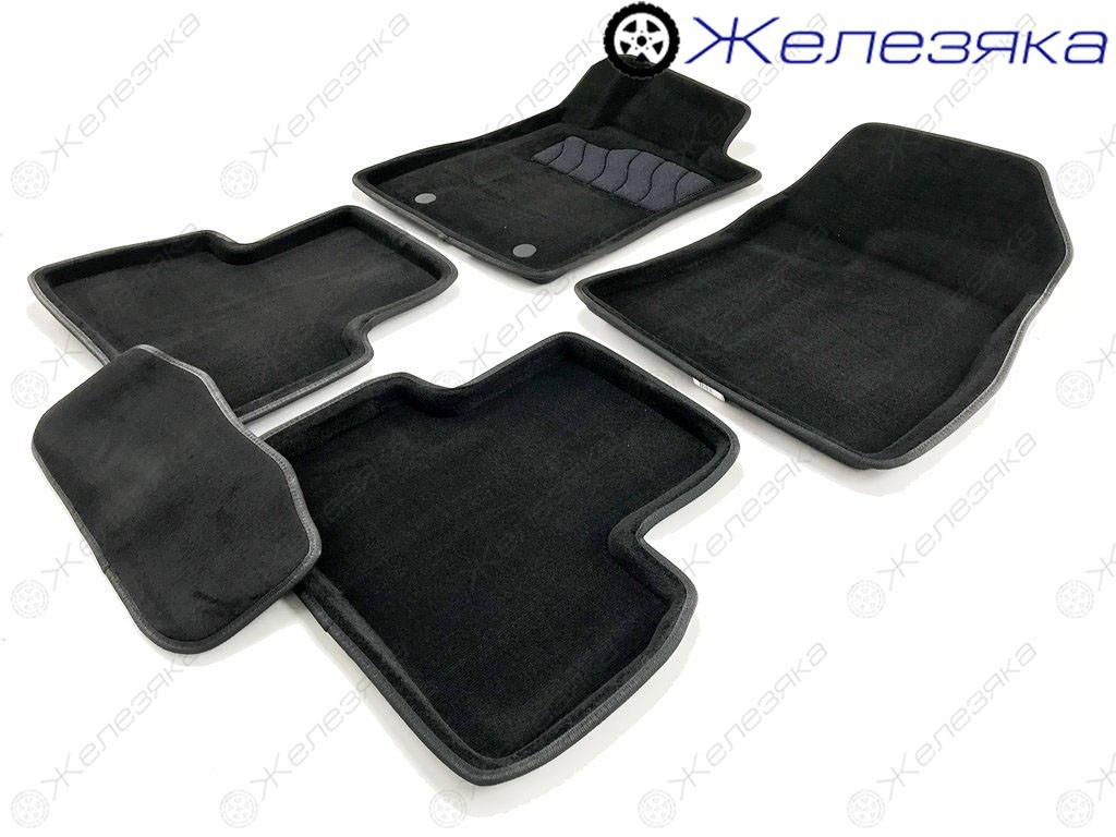 Коврики в салон 3D Ворс Nissan Juke 2011 (Черные) SEINTEX