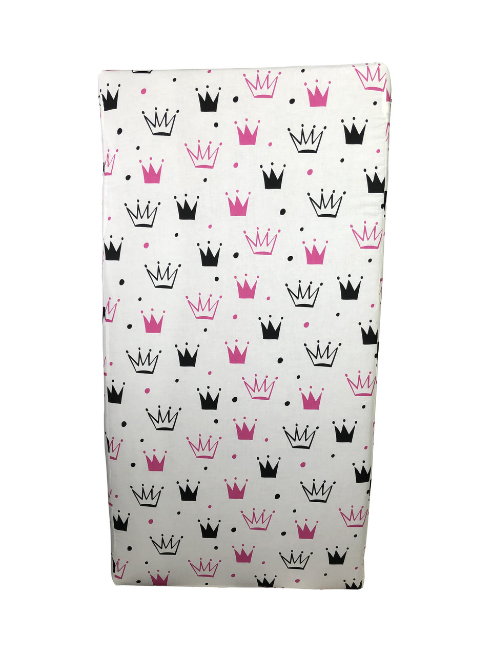 Матрац дитячий ортопедичний Baby Comfort Соня №8 (120*60*8 см) корони рожеві