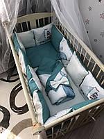 Комплект постельного белья Baby Comfort Baby Bembi 8 элементов Океан, фото 1