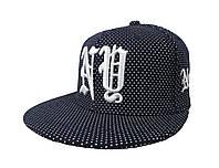 Синяя кепка New York в белую точечку