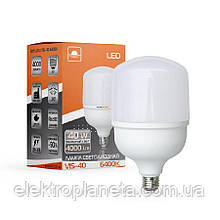 Лампа світлодіодна високопотужна ЕВРОСВЕТ 40Вт 6400К (VIS-40-E27)
