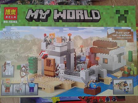 """Конструктор Bela 10392 Minecraft """"Пустынная станция"""", фото 2"""