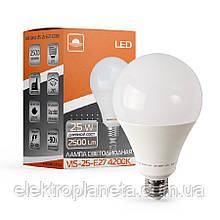 Лампа світлодіодна високопотужна ЕВРОСВЕТ 25Вт 4200К (VIS-25-E27)