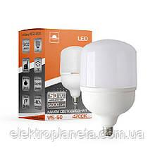 Лампа світлодіодна високопотужна ЕВРОСВЕТ 50Вт 4200К (VIS-50-E40)