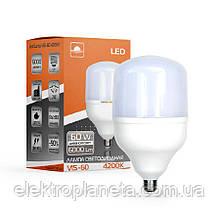 Лампа світлодіодна високопотужна ЕВРОСВЕТ 60Вт 4200К (VIS-60-E27)