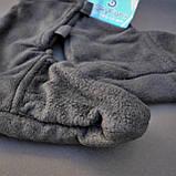Шкарпетки-чуни флісові вставки в гумові чоботи теплі вкладиші для гумових чобіт ZEPMA Чорні (11088) M, фото 4