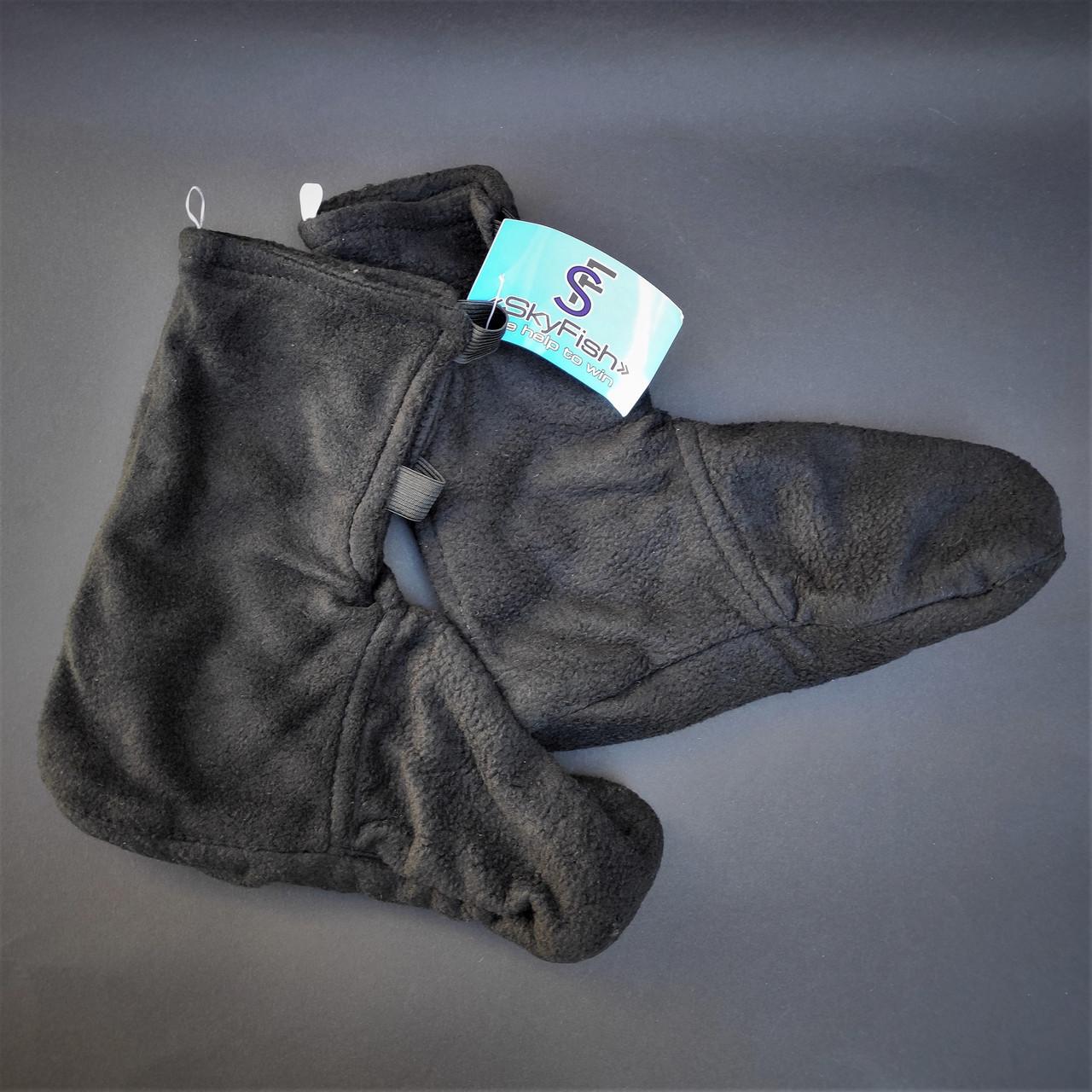 Шкарпетки-чуни флісові вставки в гумові чоботи теплі вкладиші для гумових чобіт ZEPMA Чорні (11088) M