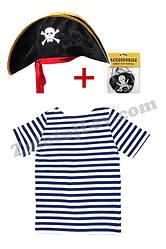 Дитячий набір Пірата тільник, шапка, пов'язка