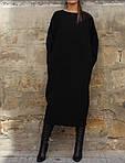 Женское платье батал, турецкая Ангора, р-р универсальный 48-52 (черный), фото 2