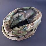 Баф buff маска чоловіча жіноча на шию зимовий флісовий шарф бандана на голову ZEPMA Камуфляж (1502), фото 3