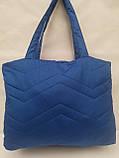 Женская сумка пуховик дутая стеганая, фото 2