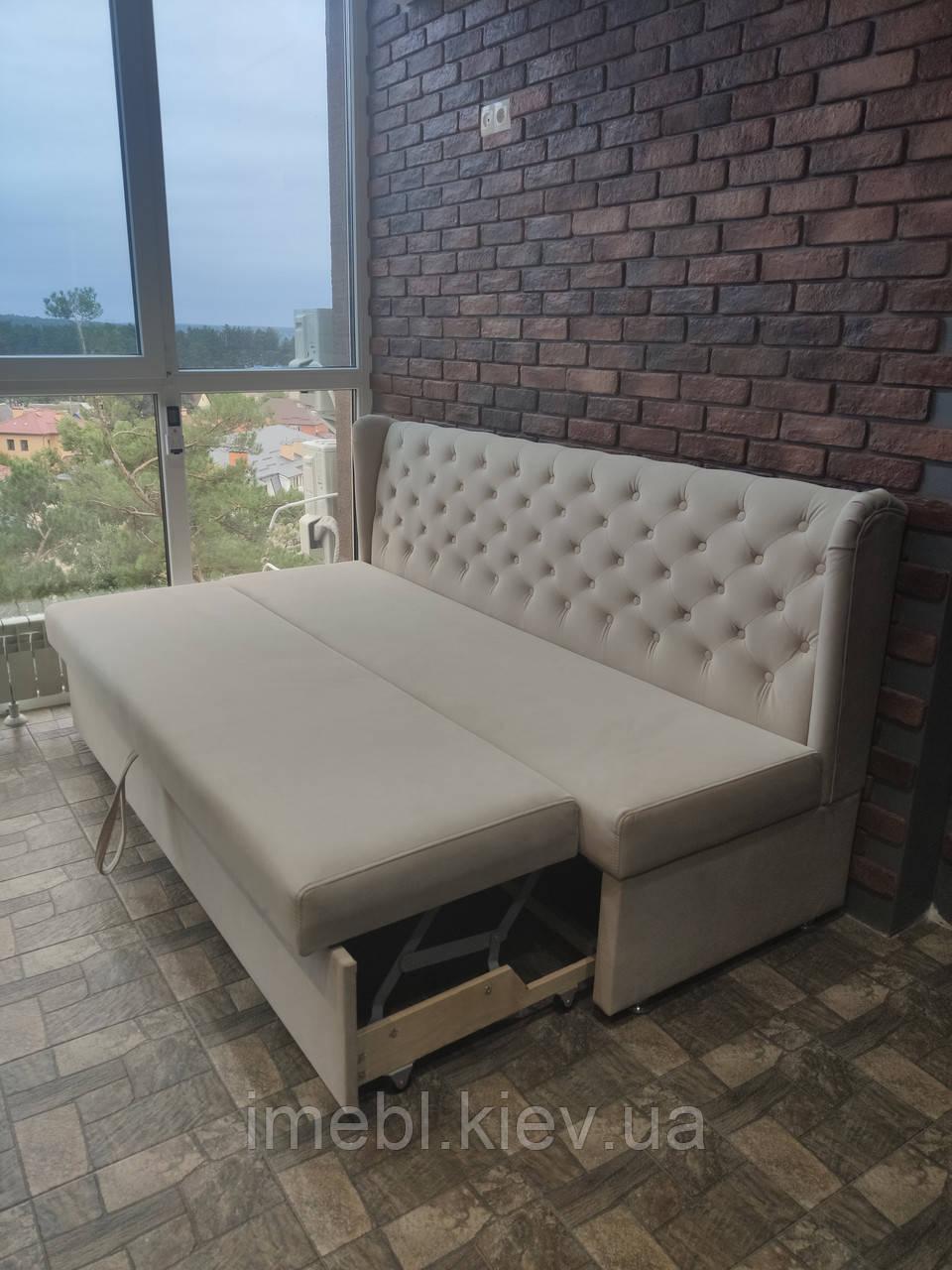Раскладной диван для кухни (Светло-серый)