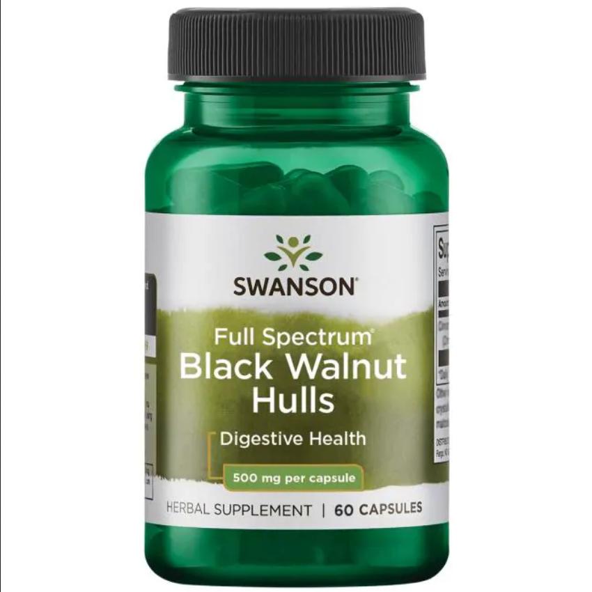 Антипаразитное засіб - Чорний горіх (шкірка) / Black Walnut Hulls, 500 мг 60 капсул