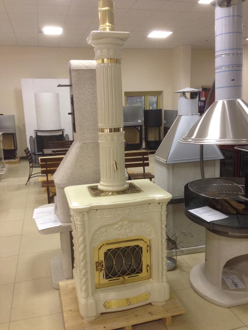 Керамическая печь sergio leoni giglio с керамическим дымоходом