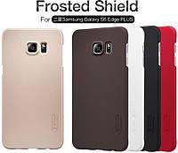 Чехол для Samsung Galaxy S6 EDGE Plus G928 - Nillkin Super Frosted Shield (пленка в комплекте)