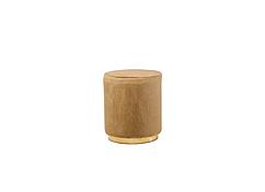 Пуф  Ріко вельвет, круглий, колір капучино + золото