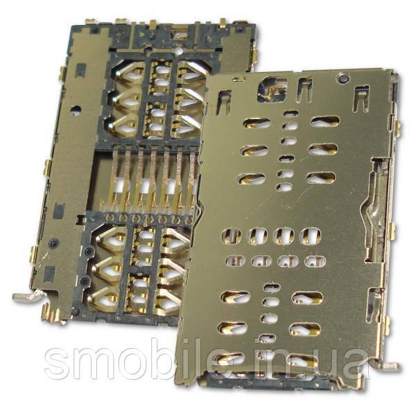 Контакты с держателем для двух SIM карт Xiaomi Redmi 6 (оригинал Китай)
