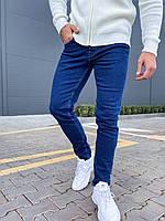 Мужские джинсы наполовину зауженные (синие) модные классические AЕ2308-001