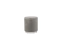 Пуф  Ріко вельвет,  круглий колір сірий + серебро
