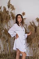Шёлковая женская рубашка для дома и сна домашняя одежда из Шёлка Армани цвет белый M