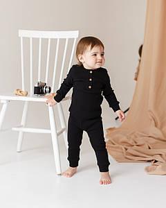Детский трикотажный костюм двойка (черный)