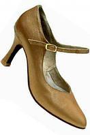 Туфли танцевальные женские стандарт из кожи , сатина.