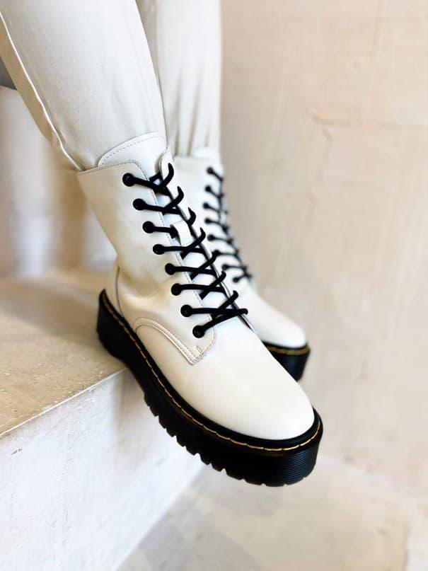 Жіночі черевики Dr. Martens Jadon II White Black (Premium) (білі) К2740 стильна демісезонне взуття