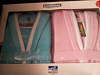 Двойной набор 2 халата (мужской и женский) Altinbasak Pacific