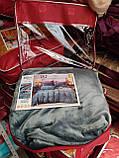 Велюровий Комплект постільної білизни Моніка євро розмір Фіолетового кольору, фото 4