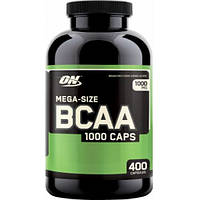 Аминокислоты  Mega-Size-BCAA 1000 (400 кап) Optimum Nutrition