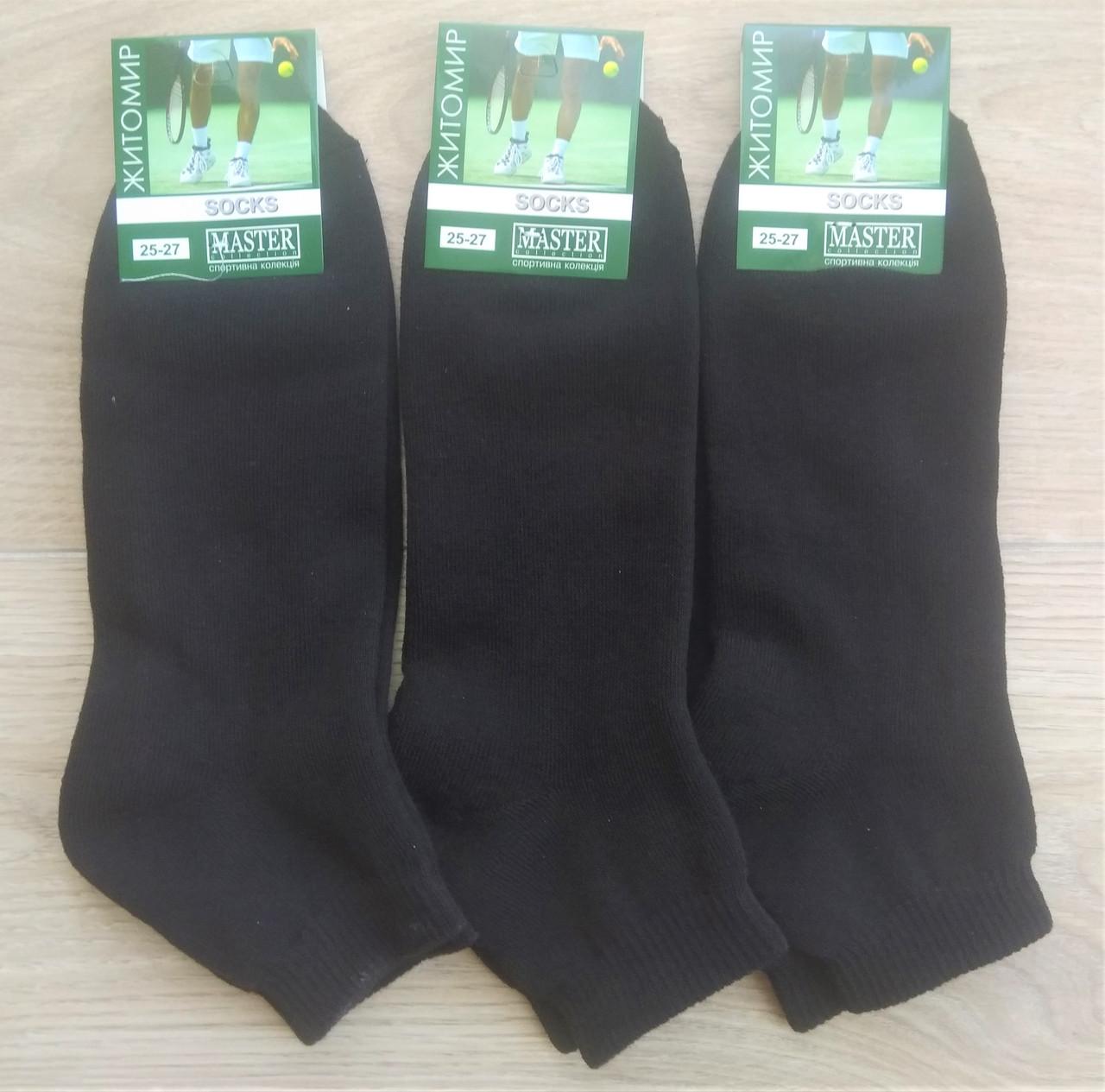 Чоловічі шкарпетки Master бавовна утеплені 25-27 чорні