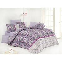Постельное белье Nazenin Ranforce - Violet лиловое евро