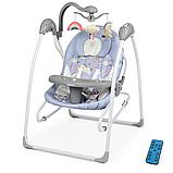 Детский укачивающий центр напольные качели для новорожденных EL CAMINO SENSA ME 1028 Unicorn синий, фото 10