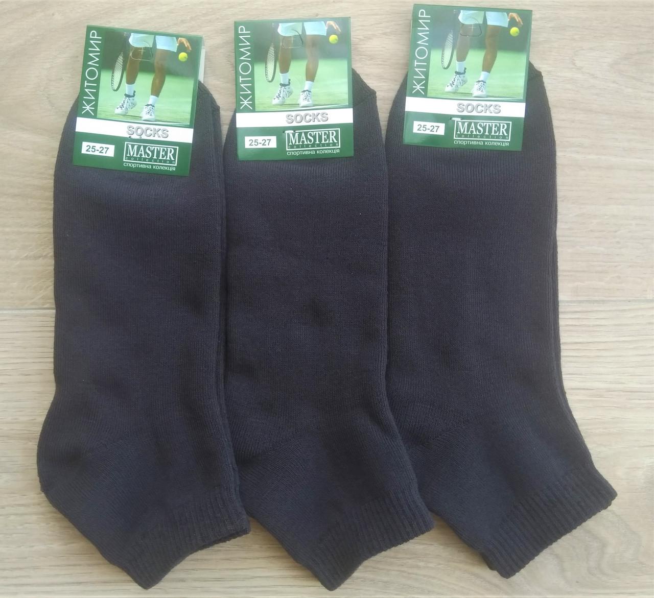 Чоловічі шкарпетки Master бавовна утеплені 25-27 темно-сині