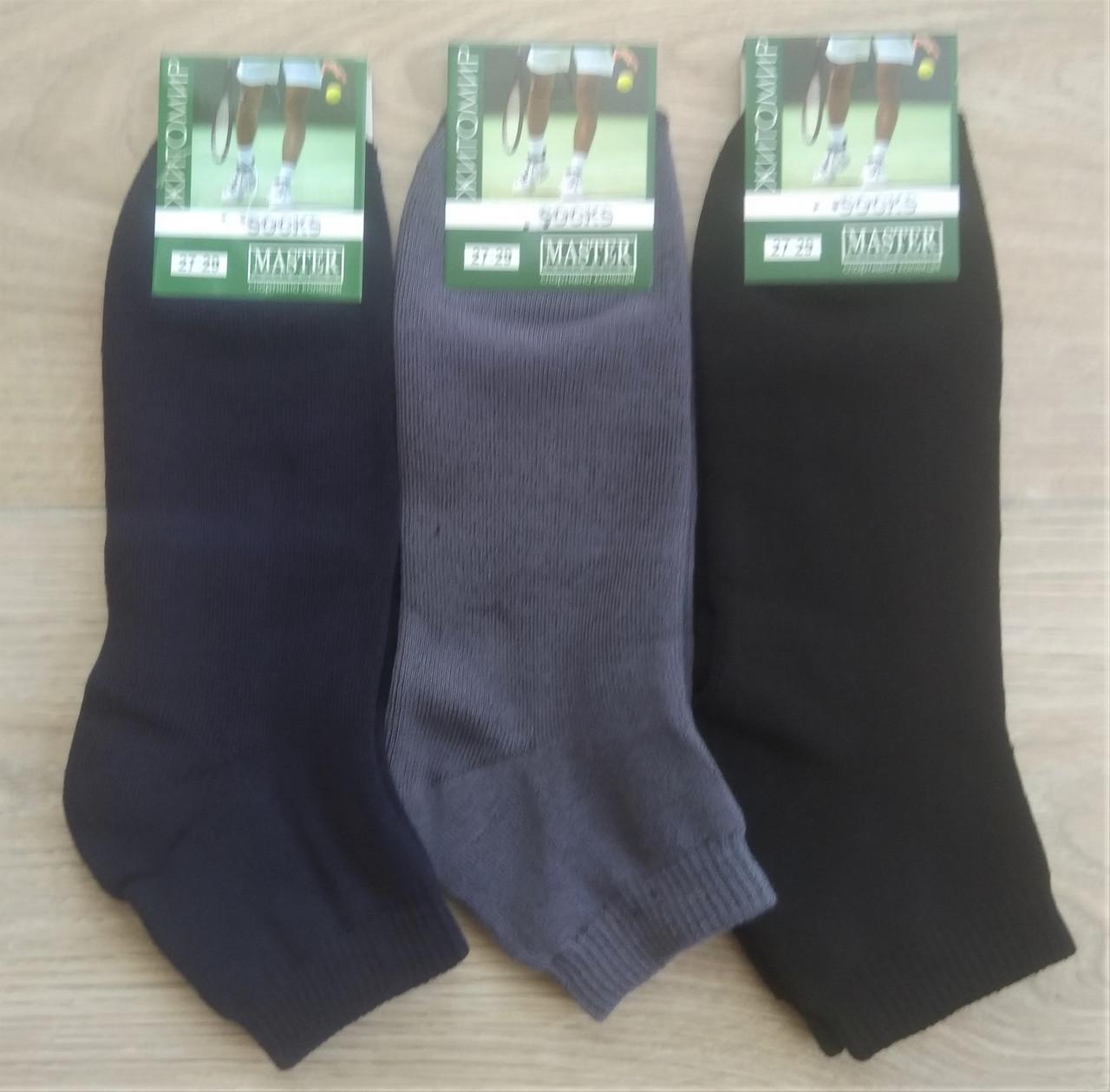 Чоловічі шкарпетки Master бавовна утеплені 27-29 різнокольорові 12шт