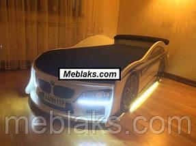 Кровать машина БМВ синяя Mebelkon, фото 3